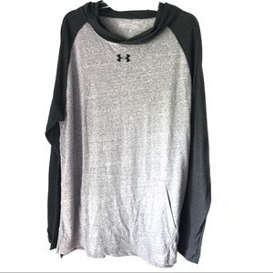 Under Armour lightweight grey and black hoodie